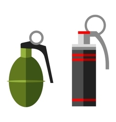 Grenade bomb explosion weapons vector image