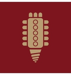 The led lamp icon lamp and bulb lightbulb cfl vector