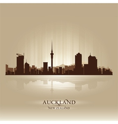 Auckland new zealand skyline city silhouette vector