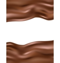 Wavy chocolate background EPS 10 vector image