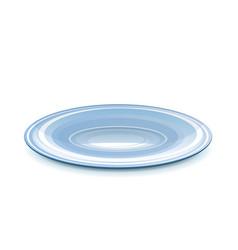 Empty saucer vector