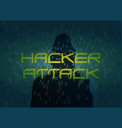 Hacker attack technology background with dark vector