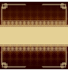 Vintage background with antique design elements vector image