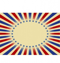 Usa radial background vector