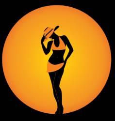 girl in elegant hat vector image