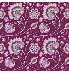 Floral seamless pattern in slavonic style vector image