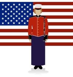 US Military Band Musician-2 vector image