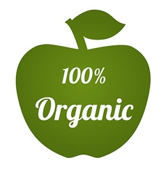 Organicapple vector
