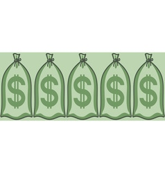 Money bags vector