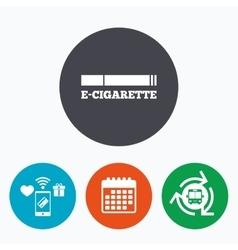 Smoking sign icon e-cigarette symbol vector