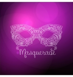 Patterned masquerade mask vector
