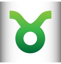 Taurus sign green gradient icon vector