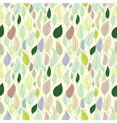 A seamless pattern with leafautumn leaf vector image vector image