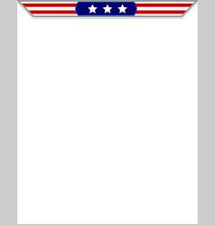american flag blank frame vector image