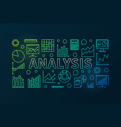 analysis colorful horizontal banner vector image