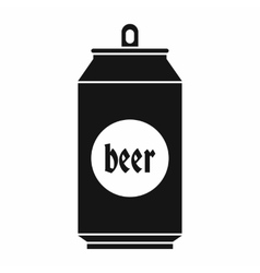 Beer in aluminum cans icon simple style vector
