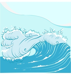 Blue foamy sea wave vector
