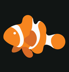 cartoon fish funny sea fish vector image
