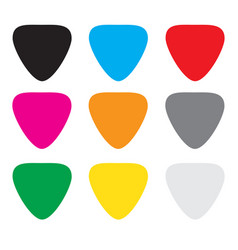 colorful guitar picks vector image