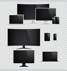 Desktop tablet pc tv mobile phone laptop vector