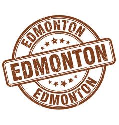 Edmonton brown grunge round vintage rubber stamp vector