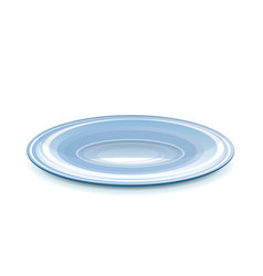 Empty saucer vector image vector image