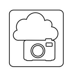 figure cloud camera network icon vector image
