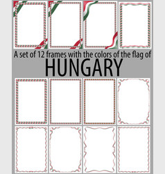 Flag v12 hungary vector