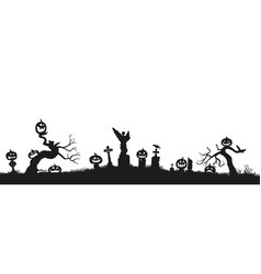 holiday halloween black silhouettes of vector image vector image