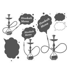 hookah minimalistic vector image
