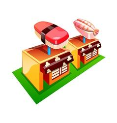 Icon sushi shop vector