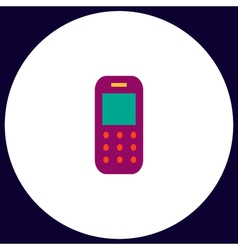 Mobile phone computer symbol vector