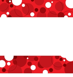 Red Graphic Background With White Space vector image vector image