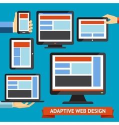 Responsive and adaptive design vector