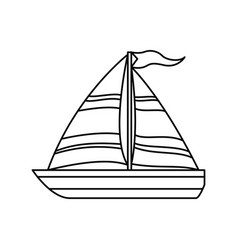 Sail boat isolated vector