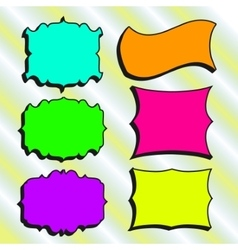 Set of Hand-drawn frames for your design vector image