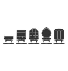 set of railroad cars vector image