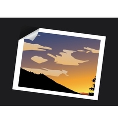 sunset photo vector image