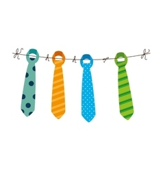 tie male fashion isolated icon vector image vector image