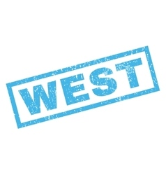 West rubber stamp vector