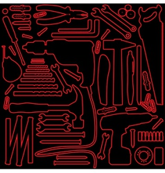 Hardware tools outline vector