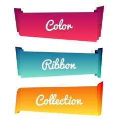 Colorful paper roll long collections design on vector