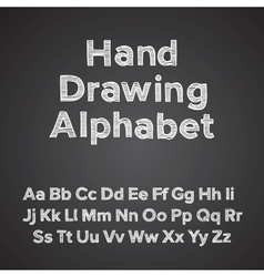 Hand drawing alphabet with chalk effect vector