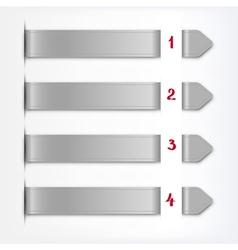 realistic design infographics elements vector image