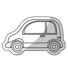 Automobile vehicle transport cut line vector