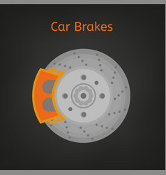 Car brakes image vector