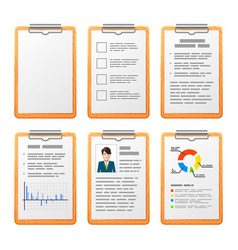 Realistic checklist on wooden board isolated on vector