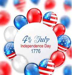 Celebration card for independence day of usa with vector