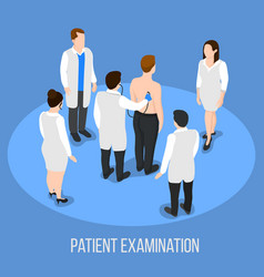 Patient examination medical background vector