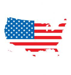 us map flag vector image